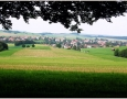 Station 17: Blick von  der Bank auf unser Dorf